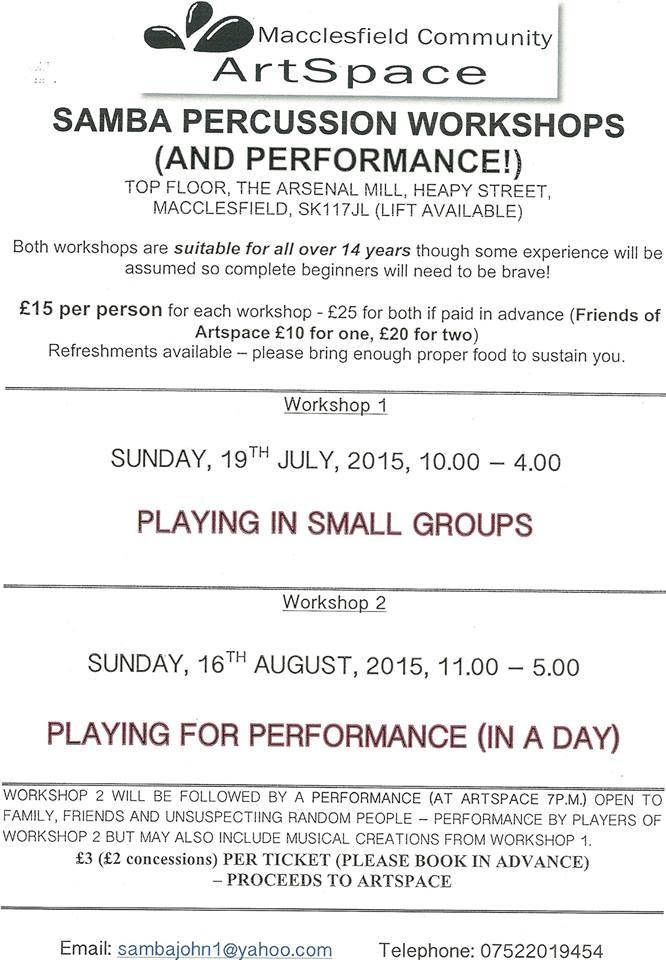 Samba workshops summer 2015