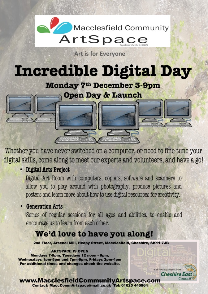 Incredible Digital Day Tomorrow, 7th December 3 till 9 pm @ArtSpace