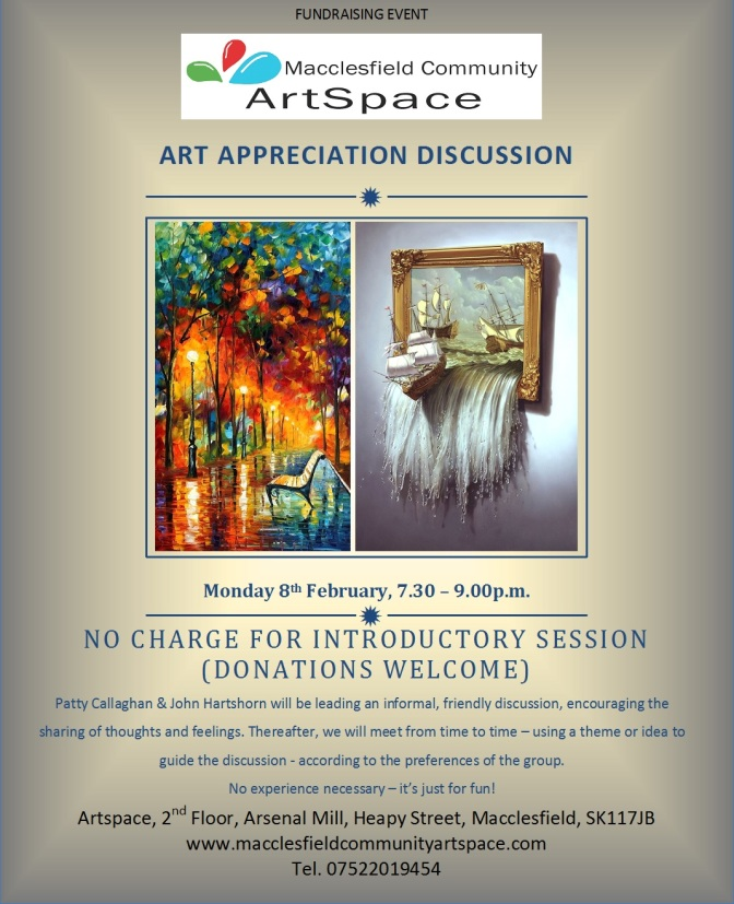 On Tonight at ArtSpace: Art Appreciation Discussion Group Monday 8th February 7:30