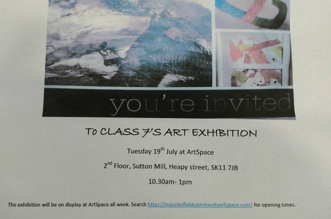 Park Lane School exhibition