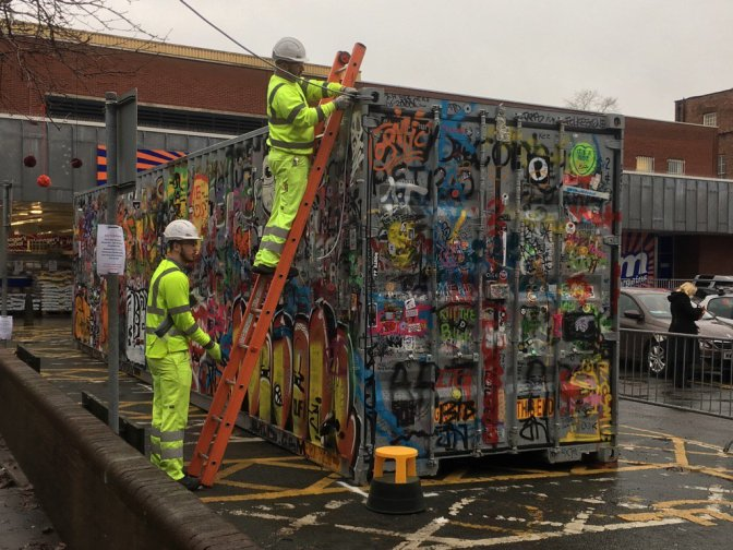 Jimmy Cauty's #AdpRiotTour has landed in Macclesfield and the power is on