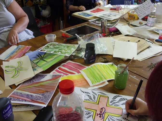 Next Free ArtSpace Hearty Arty workshop:  3rd August at 3pm