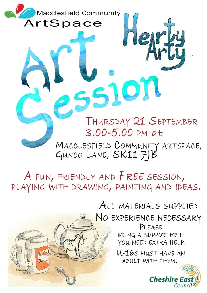 Free ArtSpace Hearty Arty workshops: September 2017 dates